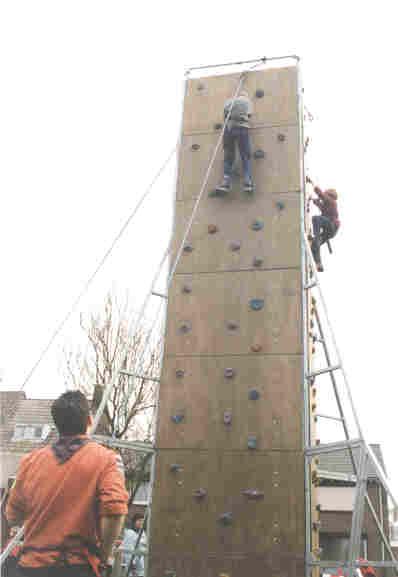 klimmen op de scoutingdag