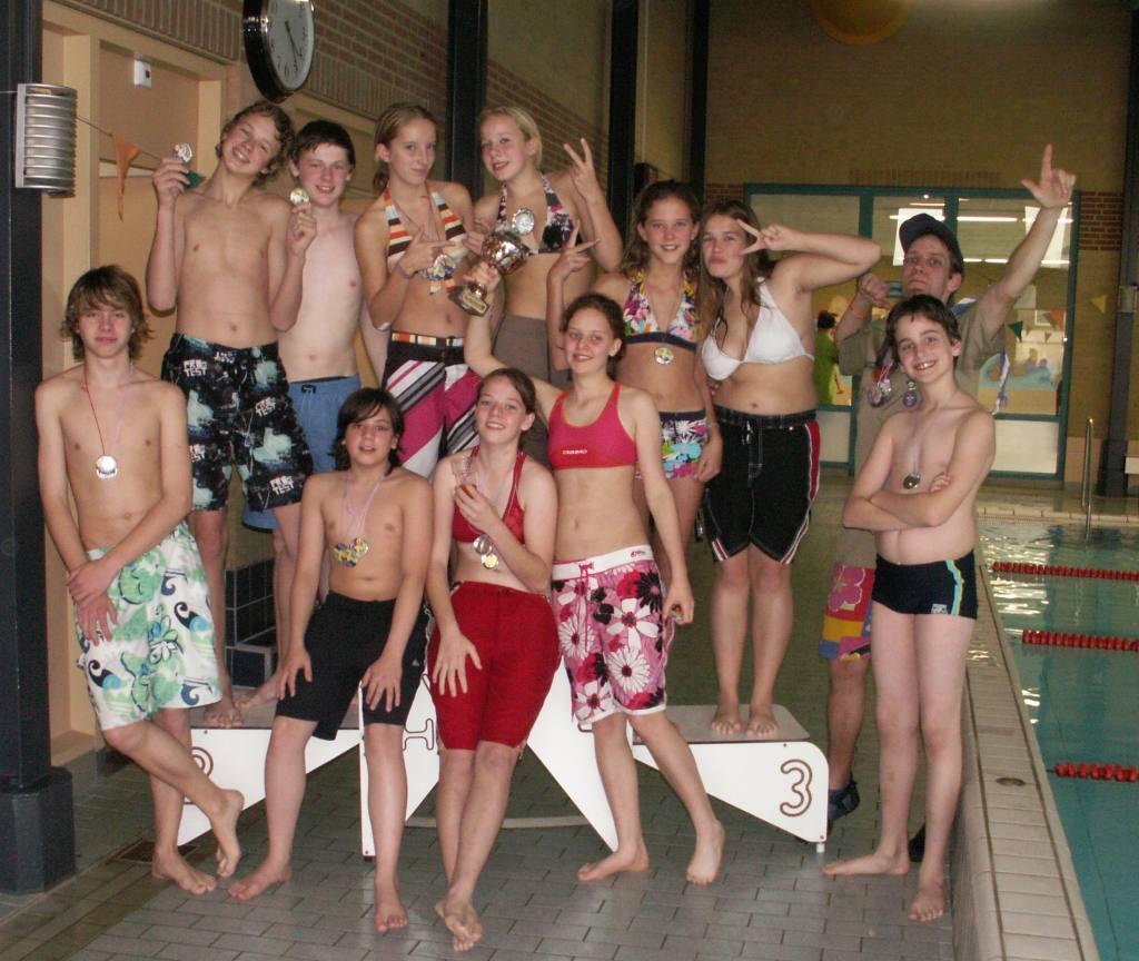 Scouting Bekkerveld wint de beker bij de zwemwedstrijden