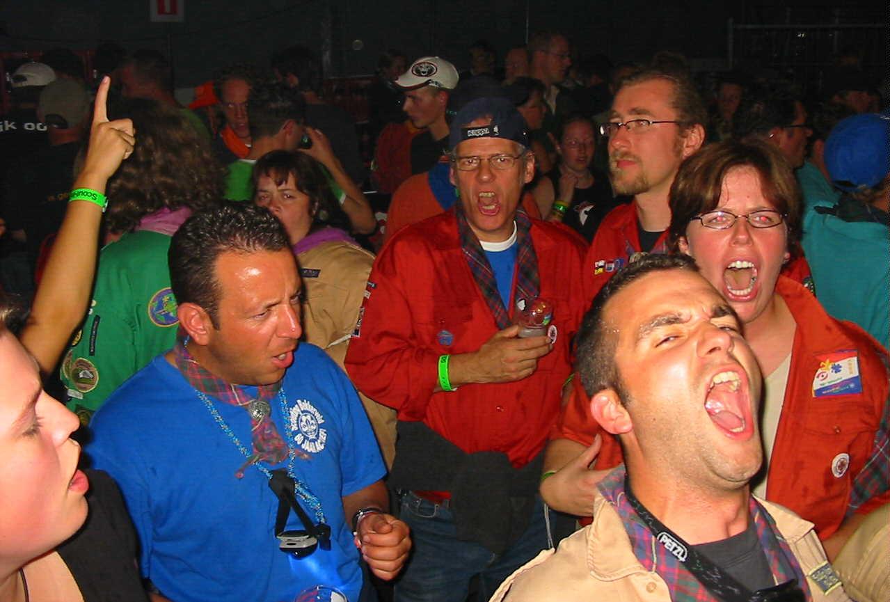 De leiding op de Scout-In (vergroting)
